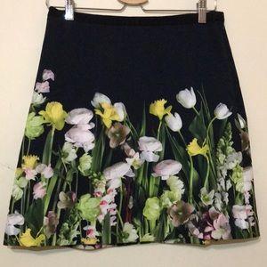 Victoria Beckham floral mini skirt